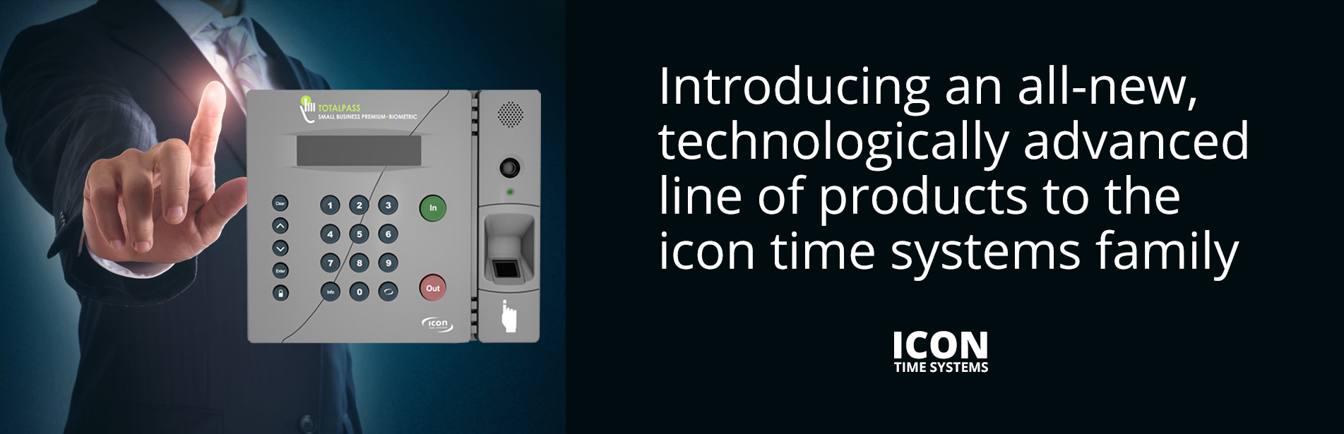 Icon TotalPass Premium Biometric Time Clock 2