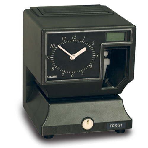 Amano TCX-22 Electronic Time Clock 12VDC