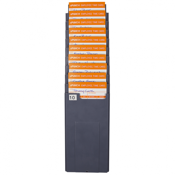 uPunch Time Card Rack 10 Capacity