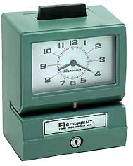 Acroprint BP125 Battery Operated Time Clock (Rechargeable)
