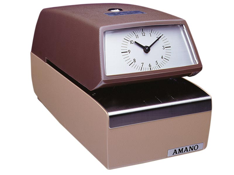 Amano 4846 Automatic Numbering, Time and Date Stamp (AM/PM)