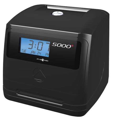 Pyramid 5000 Self Calculating Time Recorder