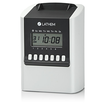 Lathem 700E Self Calculating Time Recorder