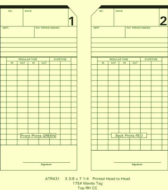 ATR431 Time Cards