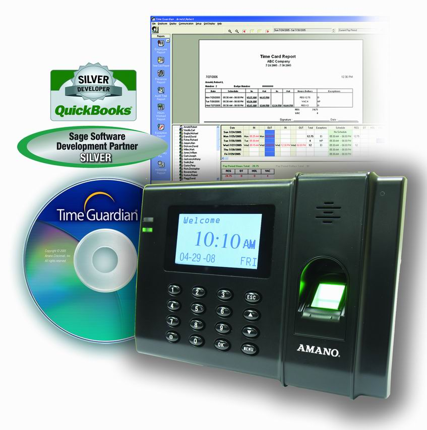 Amano Time Guardian FPT-80 Terminal (No Software Included)