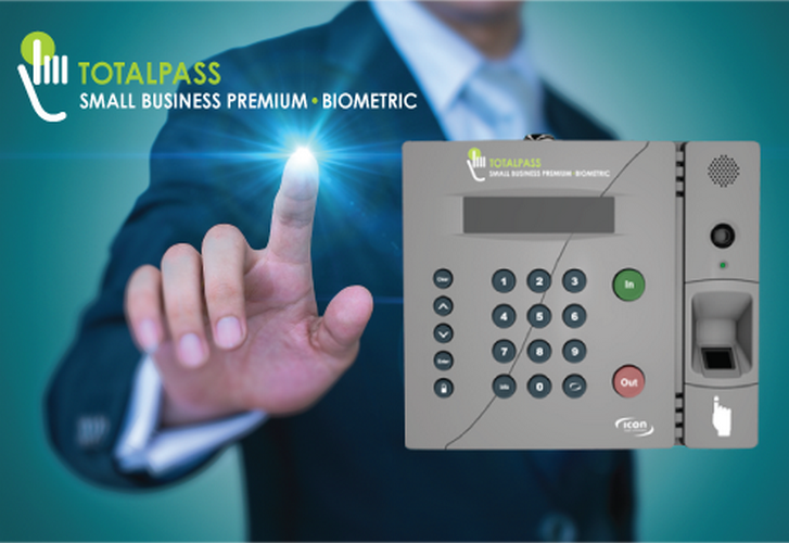 Icon TotalPass Premium Biometric Time Clock