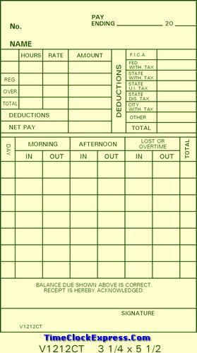 V1212CT Time Cards
