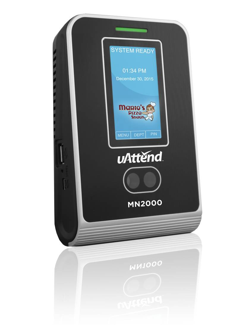 uAttend MN2000 Facial Recogition Time Clock