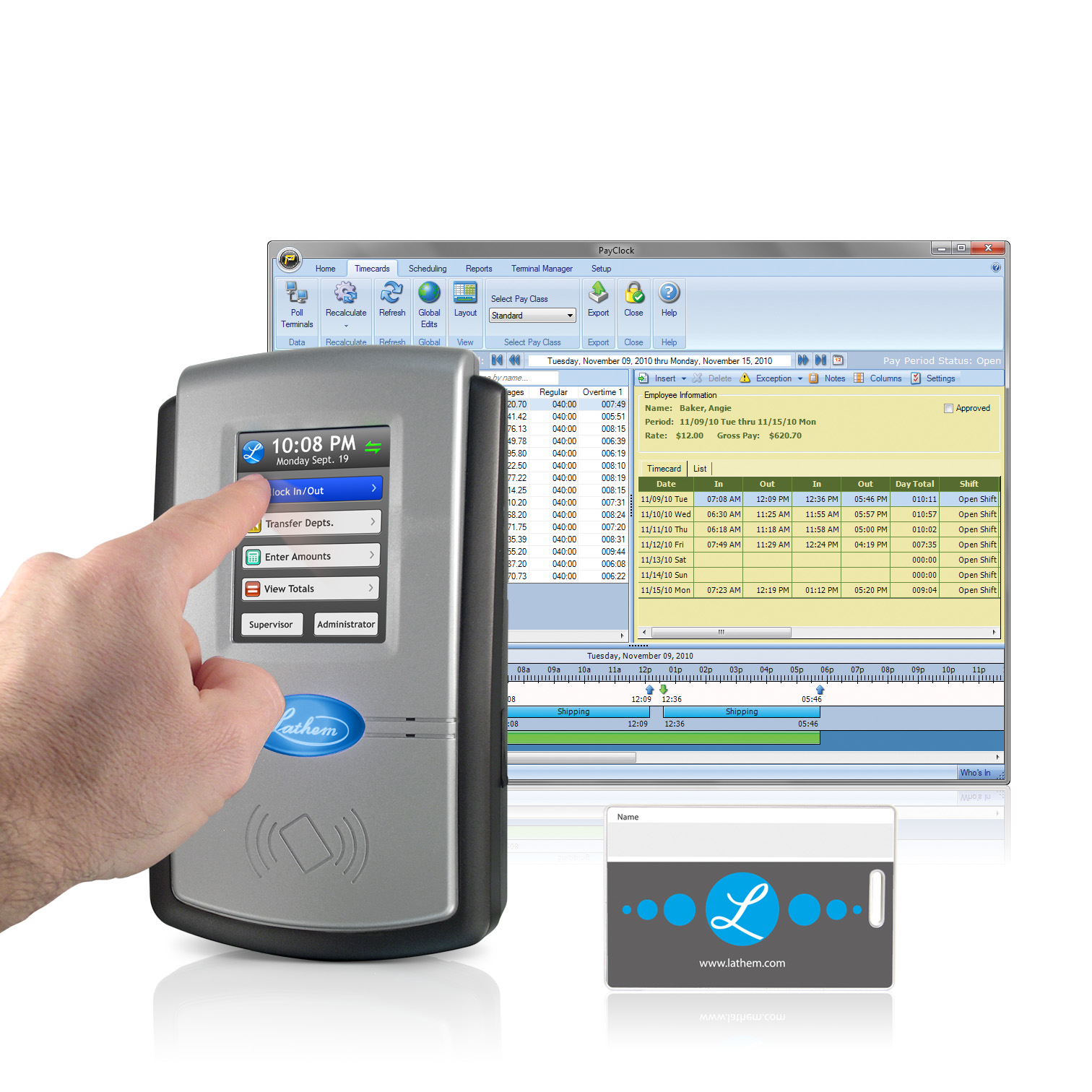 Lathem PC600 Touch Screen Time & Attendance System