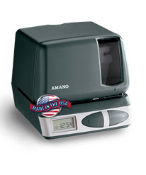 Amano PIX-21 Electronic Time Recorder and Date Stamp 12VDC