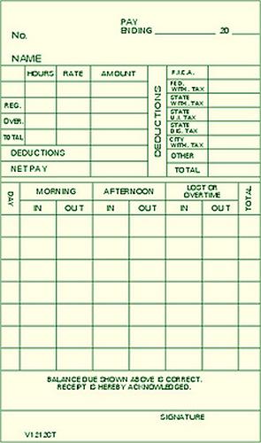 V1212FP Time Cards